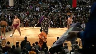 大相撲11月場所9日目の対阿夢露との取組み 遠藤は中日から6連勝で1...