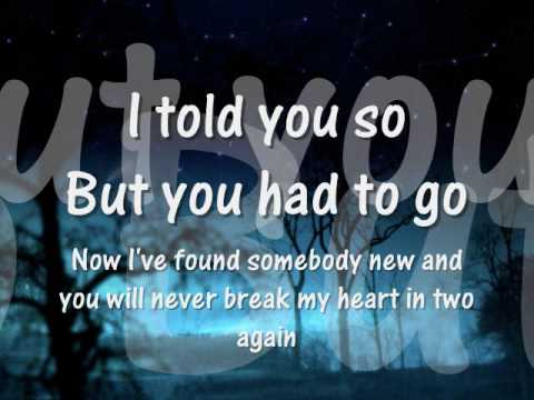 i told you so carrie underwood lyrics