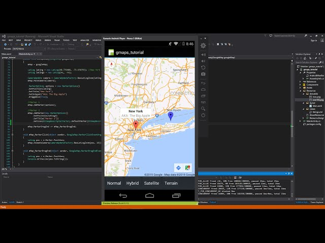 Xamarin Android Tutorial   42   Google Map - Markers