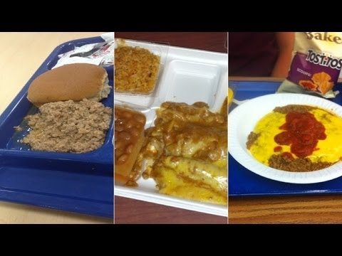These REAL School Lunches Look DISGUSTING - YouTube