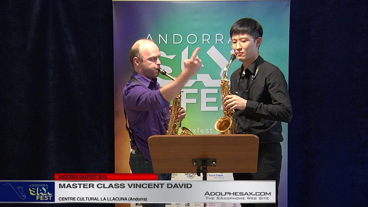 ANDORRA SAX FEST - Master Class Vincent David
