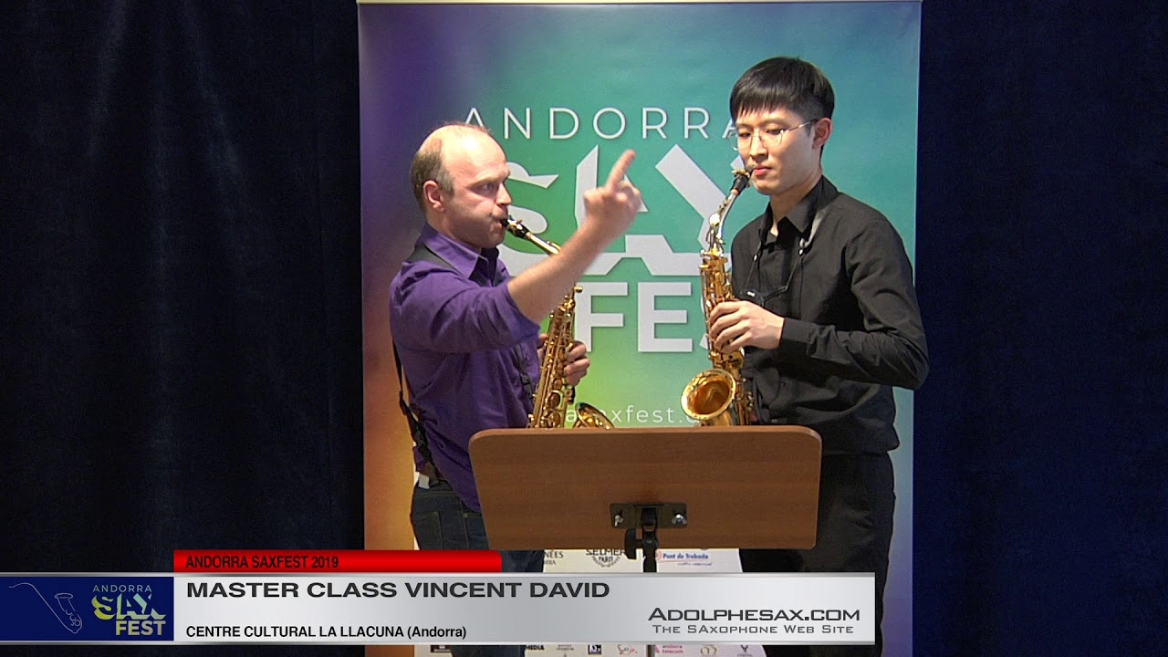 ANDORRA SAX FEST - Master Class Vinncet David