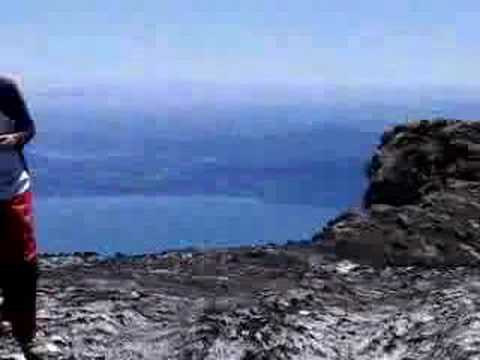 At the top of Villarrica Vulcano