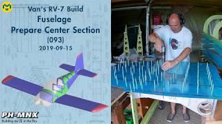 Van's RV-7 Build Fuselage Preparing Center Section (093)