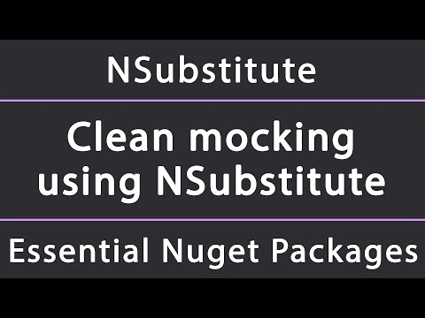 Clean Mocking For Unit Tests Using NSubstitute In .NET (Core, Framework, Standard)