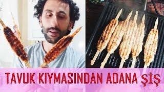 TAVUK KIYMASINDAN ADANA ŞİŞ KEBAB Homemade Turkish Adana Kebab