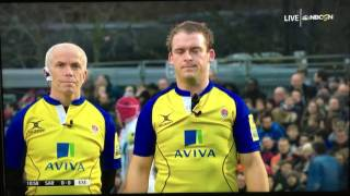 Barrington red card Saracens/Exeter 1/7/17 2017 Video