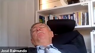 Procurador dorme durante sessão de julgamento na PB; desembargadores dão risada