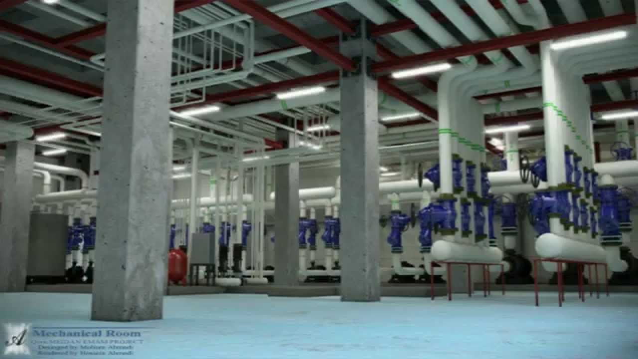 mechanical room design, Autodesk MEP and Lumion by Ahmadi