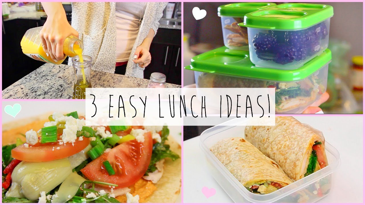 3 healthy easy lunch ideas for work school youtube