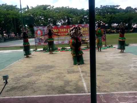 Tarian Dayak - Sampit ( Kalimantan Tengah ) || Lomba Tarian Daerah Tk. Kabupaten Kotawaringin Timur