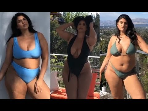 Plus Size Swimwear Fashion Look-Best Large Models no 1