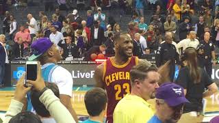 LeBron x Cam Newton talk after game (2016 Cavs championship and Panthers 15 -1 season)