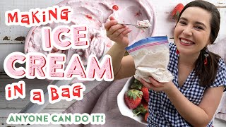 Quick and Easy ICE CREAM IN A BAG | Anyone Can Do It!! | Working From Home Edition