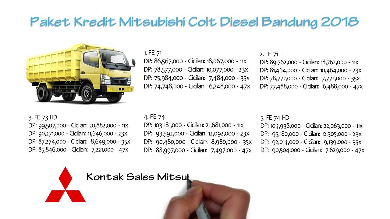 Kredit Truk Mitsubishi Colt Diesel Bandung Promo Diskon 0811229295