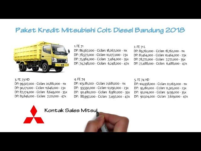 Kredit Mitsubishi Colt Diesel Bandung Oktober 2018 | 0811229295