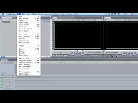 Final Cut Pro - New Project/Scratch Disks