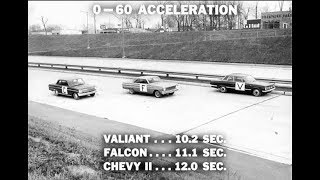 1964 Plymouth Valiant  V8 Performance vs Chevrolet Chevy II and Ford Falcon