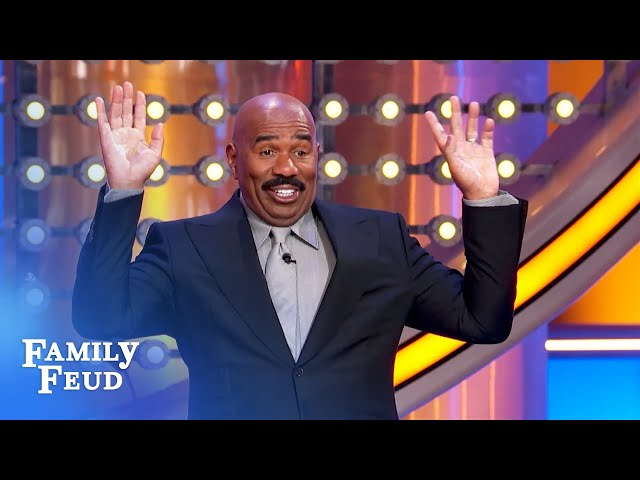 Here's why Steve Harvey is thankful Marjorie doesn't have a sister! | Family Feud