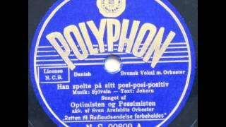 Han spelte på sitt posi posi positiv - Sven Arefeldt; Optimisten og Pessimisten 1938