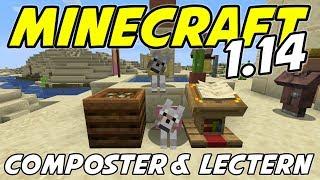 Minecraft 1.14 - COMPOSTER, LECTERN and DESERT VILLAGE - Minecraft 1.14 Snapshot Playthrough - Ep 4