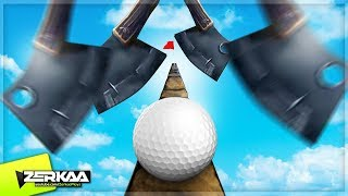 GOLF BALL VS IMPOSSIBLE HATCHETS (Golf It)