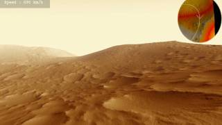 Olympus Mons Basal Scarp Animation