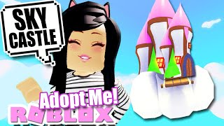 How To BUILD a SKY CASTLE MANSION for FREE in ADOPT ME! Roblox HACKS Tutorial