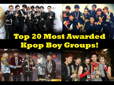Top 20 Most Awarded Kpop Boy Groups!
