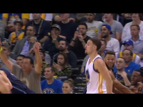 Klay Thompson Red Hot at the Half!