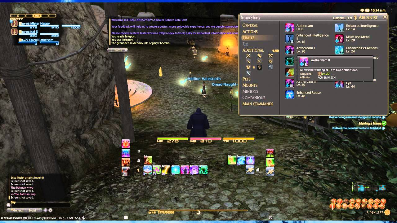 FFXIV ARR 101 Episode 50: Arcanist Class Overview (No Gameplay)