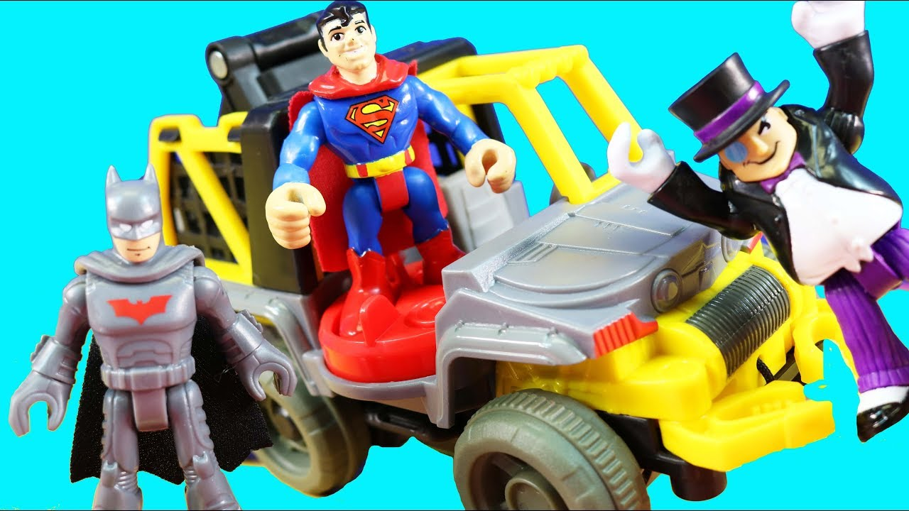 Imaginext Penguin /& 6 Wheeler DC Superfriends Figures