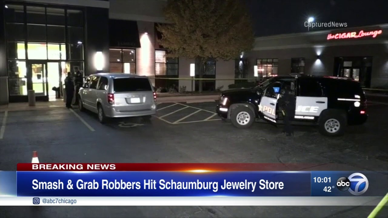 Smashandgrab robbers strike Schaumburg Jared YouTube