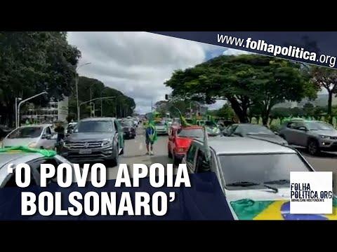 Deputado mostra tamanho da carreata em Brasília: 'Bolsonaro tem o apoio do povo!'