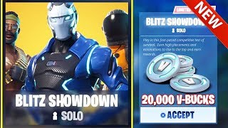 FORTNITE: EARN 20,000 V-BUCKS for FREE! *NEW* BLITZ SOLO SHOWDOWN LTM AVAILABLE NOW!!! Battle Royale