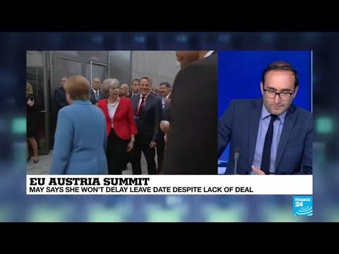 EU Austria summit: May backtracks on Northern Ireland border
