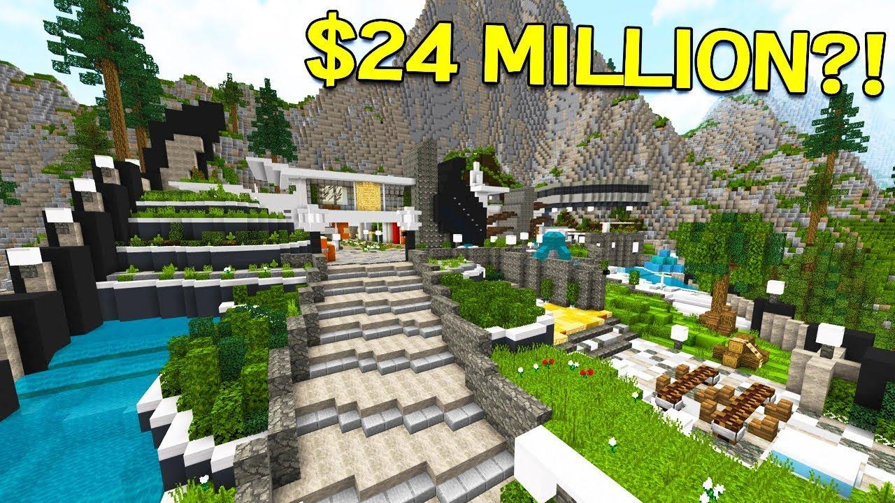 world 39 s most expensive minecraft mega mansion youtube. Black Bedroom Furniture Sets. Home Design Ideas