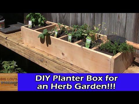 DIY Planter Box for an Herb Garden
