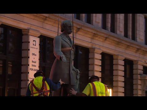 Raw: Lexington, KY Moves 2 Confederate Statues