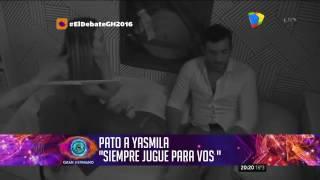 Gh2016 Fuerte Pelea Entre Yasmila Y Pato