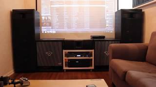 Cerwin-Vega! XLS-215 and 2 HFA-18 LOUD rock music