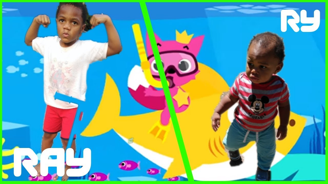 Ray vs Ry Baby Shark Dance Battle | Baby Shark Remix ...