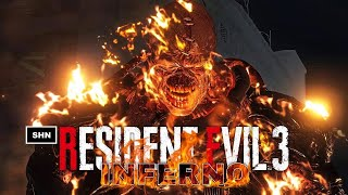 Resident Evil 3 Remake | INFERNO No HUD  No Crosshair | 4K/60fps Game Movie No Commentary