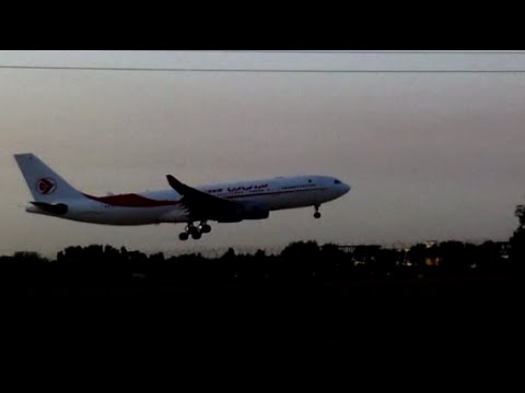 spotting Algiers DAAG landings runway 09 Air Algerie, Tassili, Air France. Alger.