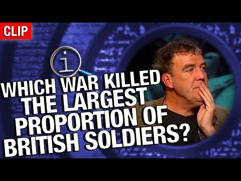 Thumbnail: QI | Which War Killed The Largest Proportion Of British Soldiers?