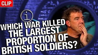 QI | Which War Killed The Largest Proportion Of British Soldiers?