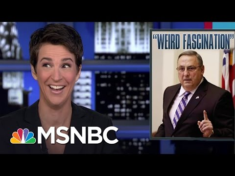 Maine Gov. Paul LePage Gives Rachel Maddow The Cold Shoulder | Rachel Maddow | MSNBC
