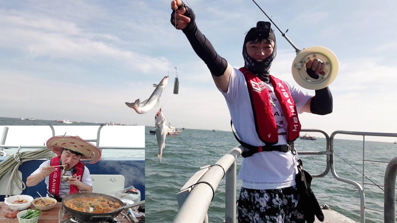 백조기 시즌이 돌아왔다 ! 세상에서 제일 싱싱한 백조기탕 끓여먹기~ white croaker fishing