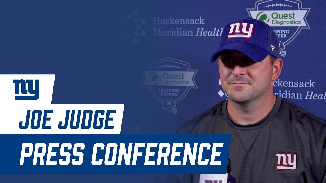 """Joe Judge: """"We need to focus on what we're doing day by day""""   New York Giants"""