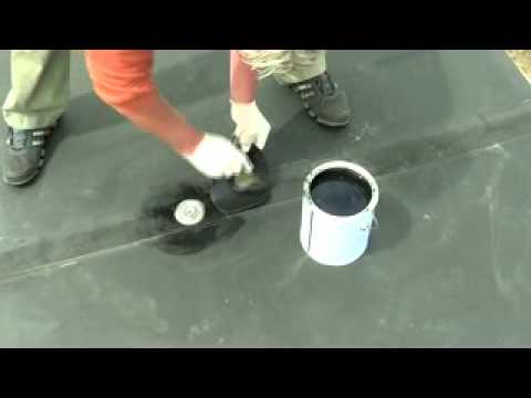 rubber roof Patch & Repair (OLD SCHOOL) Mike Haduck
